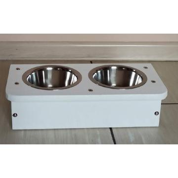 Bufet dla psa kota z miskami 0,45 stylowy stojak