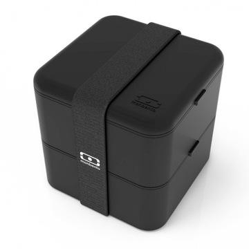 Pudełko MONBENTO Square - czarny lunchbox + GRATIS