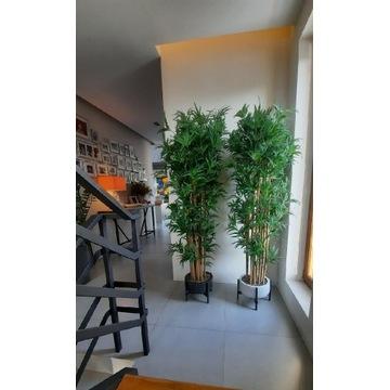 Drzewko bambusowe sztuczne w donicy na stojaku