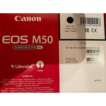 Canon eos m50 Black + 18-150mm is stm