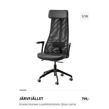 Krzesło biurowe z podłokietnikami, Glose czarny