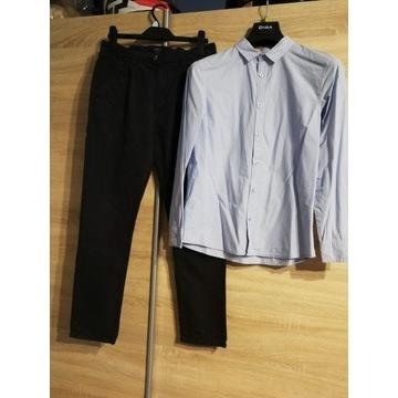 Reserved spodnie i koszula 164cm
