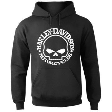 Bluza Harley Davidson Logo Czaszka z kapturem - M