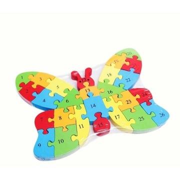 Kreatywne eco puzzle drewniane dla dzieci