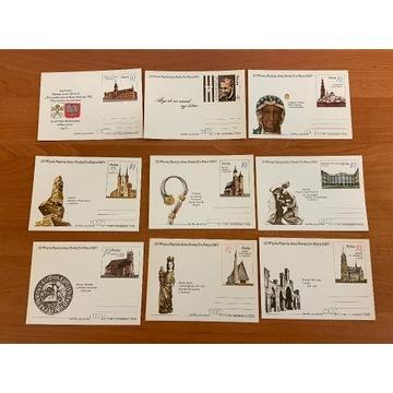 III Wizyta Papież Jana Pawła II - Karty pocztowe