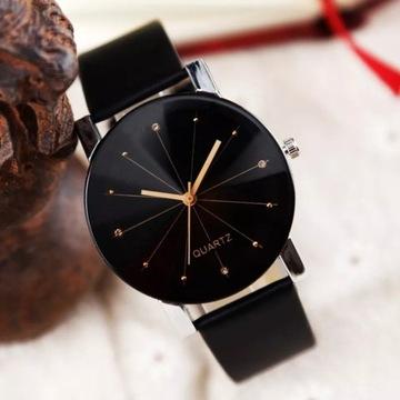 Stylowy zegarek kwarcowy  dla Pań i Panów