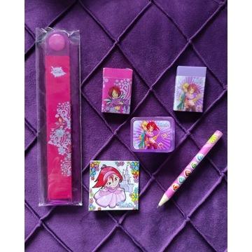 Witch zestaw różowo fioletowy szkolny przybory