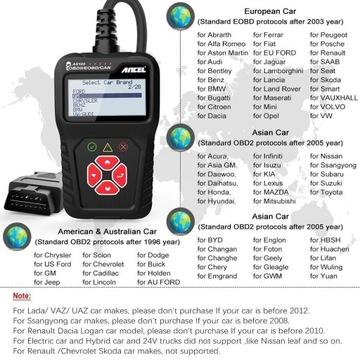 Ancel AS100 Obd2 narzędzie diagnostyczne skaner