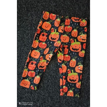 F&F Legginsy dynie na halloween 74 6-9 m