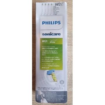 Końcówki 4x Philips Sonicare W2c/HX6074 oryginalne