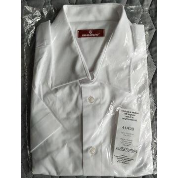 Koszula męska Modus biała 41/42B krótki rękaw Nowa