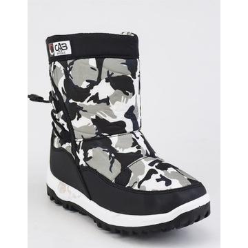 Buty zimowe śniegowce r.30 19 cm ocieplane