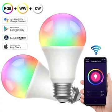 Smart Żarówki b22 15w RGB+WW+CW Tuya wifi smarthom