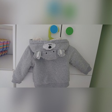 Bluza mothercare 9-12 mcy szara ciepła gratis