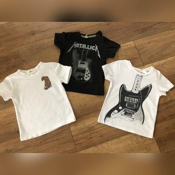 T-shirt, koszulka 80-92 metallica, nirvana