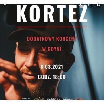 Bilety 2szt na koncert Korteza w Gdyni 8 marca