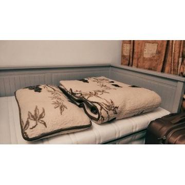 Kołdra i poduszka z żywej owczej Wełny Pościel