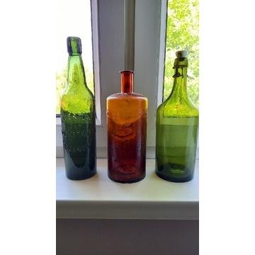 Stare butelki różne mix 3 sztuki