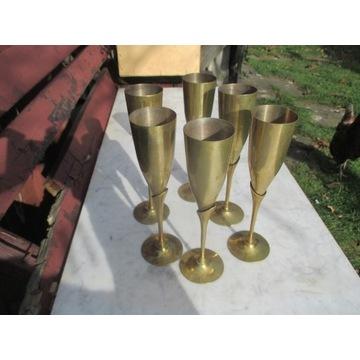 Kieliszki do szampana mosiądz design , Francja