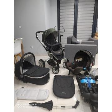 Okazja! GRACO Symbio 3w1 Piękny wózek + Isofix