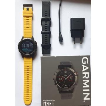 GARMIN Fenix 5 komplet + pasek gratis