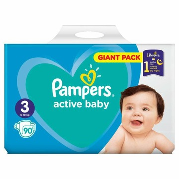 Pampers Active Baby Giant Pack 3 Midi 90 szt.