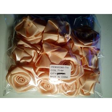 Kwiatki satynowe jasny łosoś pakiet 20x