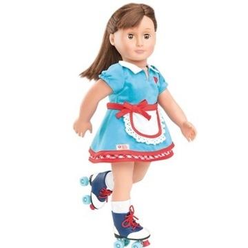Strój dla lalki  wrotkarki