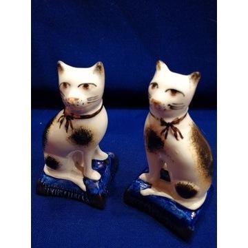 ANTYK - Koty Staffordshire -figurki -  Anglia