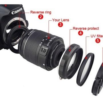 Zestaw do MAKRO zdjec EOS Canon 58mm FOTO