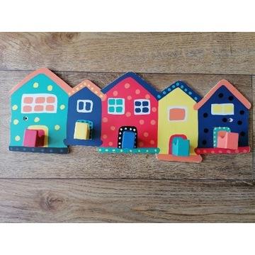 Ikea wieszak dziecięcy domki domek wawa