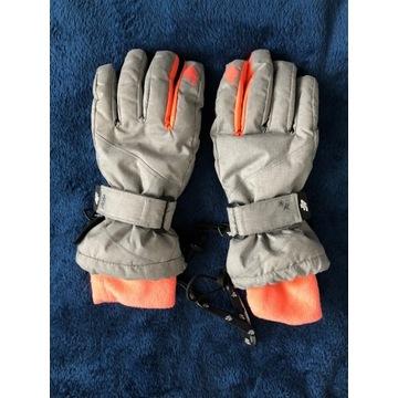 rękawice narciarskie zimowe 4F szare 7/8 lat