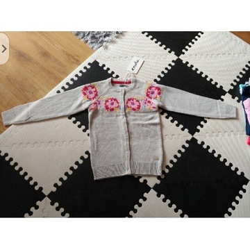 Endo cudny sweterek dziewczecy zapinany 140cm 8l+