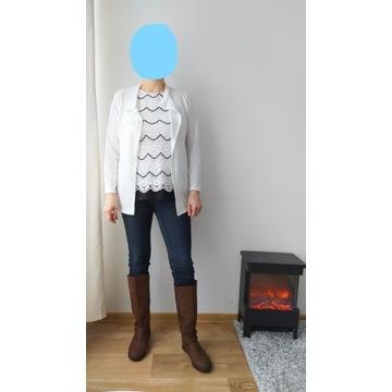 komplet bluzka 40/42(DP) i białe wdzianko (NWD)M