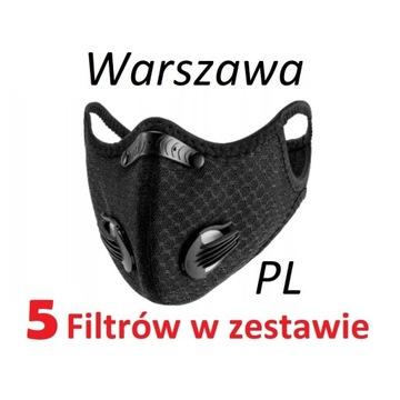Maska antysmogowa N99 FFP3 PL 24h 5x filtr węglowy