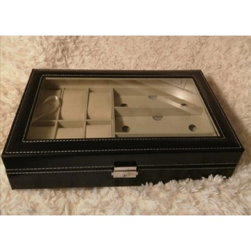Pudełko ze sztuczej skóry na zegarki