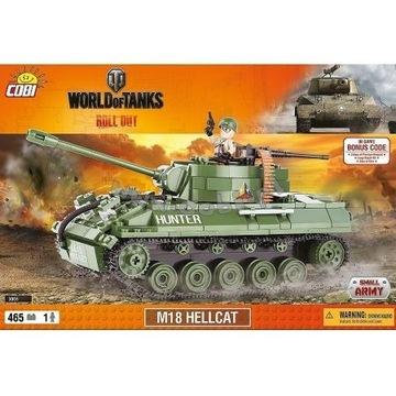 Cobi  WoT Small Army. M18 Hellcat Klocki 465 el.