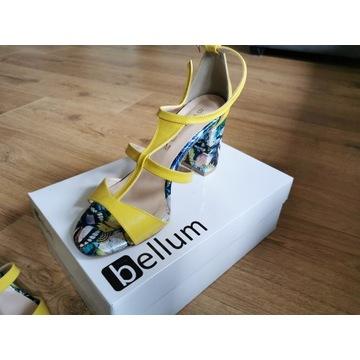 Nowe sandały żółte Bellum S-528