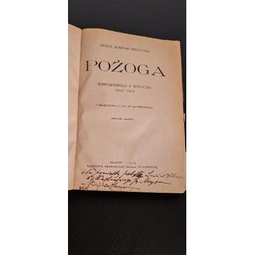 Książka  Pożoga Wspomnienia  z Wołynia 1923
