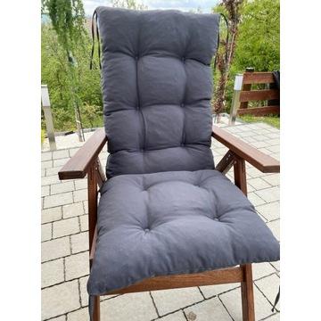 Poduszka na leżak krzesło huśtawkę - wiązana