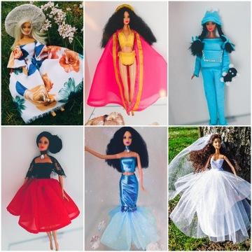 Zestaw ubranka sukienki i akcesoria dla lalki