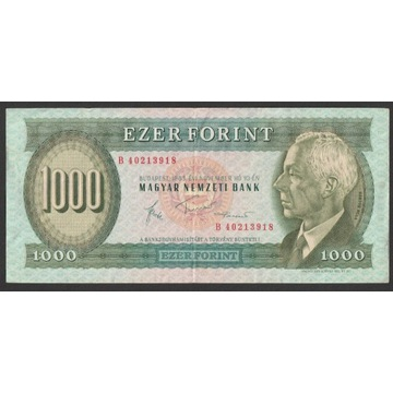 Węgry 1000 forintów 1983 - B 402 - Bela Bartok