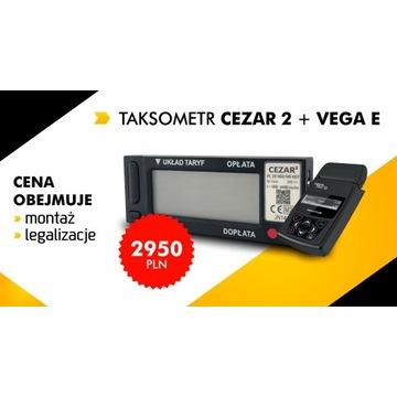 Taksometr Cezar 2 + Vega TAXI E