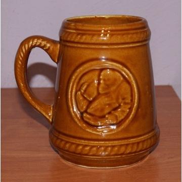 Stary kufel ceramiczny