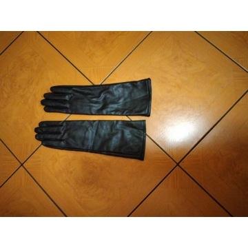 Długie rękawiczki damskie