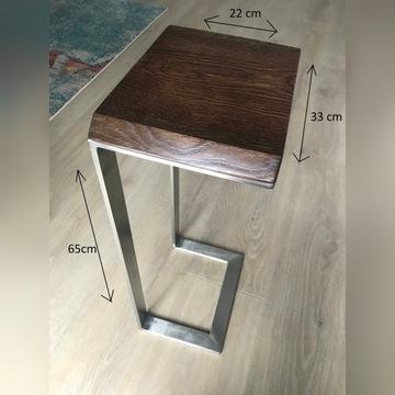 Stolik stalowa podstawa, typ LOFT