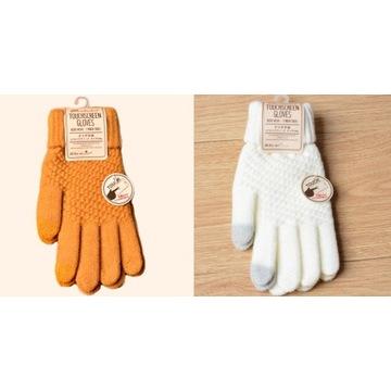 Rękawiczki zimowe damskie dotykowe do telefonu 2 p