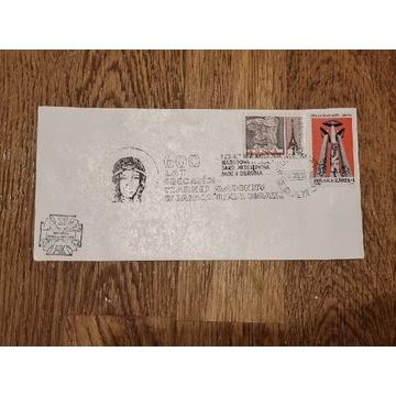 Karta znaczki Czarna Madonna Wołyńska Dywizja