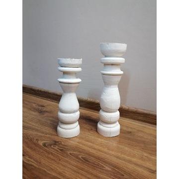 Świecznik,  Świeczniki białe 2 sztuki