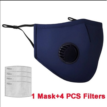 MASECZKA MASKA +4 FILTRY FFP3 PM 2,5 WĘGLOWY PL/24